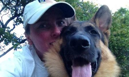 Amy Morford and German Shepherd Cozmo