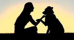silhouette-woman-dog2