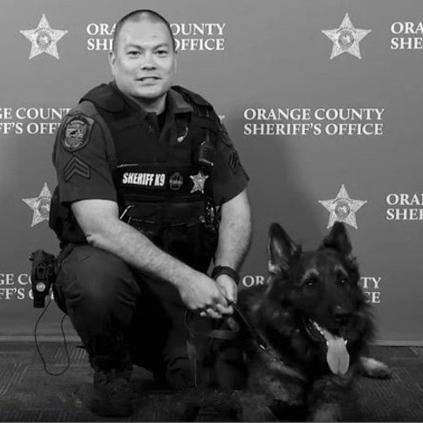 k9 Chico and Corporal Lees